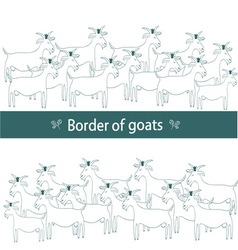 Border of goats vector image vector image