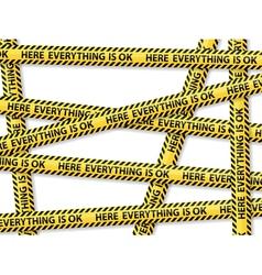 Caution tape concept vector
