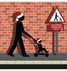 Children christmas party vector