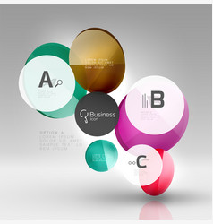 circle modern business infographics design vector image vector image