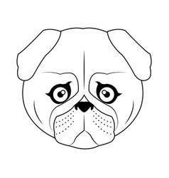 dog cartoon icon vector image vector image