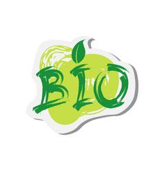 Eco friendly organic natural bio product web icon vector