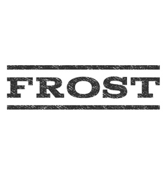 Frost Watermark Stamp vector image vector image