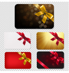 Gift card with bows big set vector