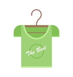 Green t-shirt on hanger vector