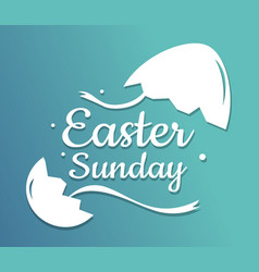 Happy easter day on blue background vector