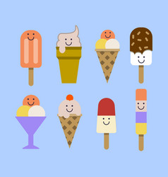 Ice cream set eps vector