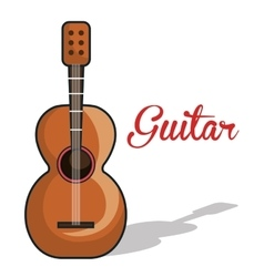 Icon guitar mexican music graphic vector