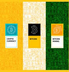line bitcoin patterns set vector image