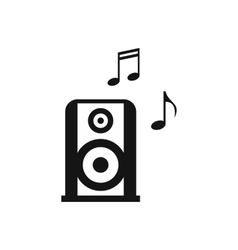 Portable music speacker icon simple style vector image vector image