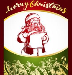 santa claus hand drawn vector image vector image