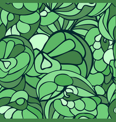 Seamless art pattern green color vector
