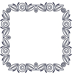 Simple frame with roses flowers vector