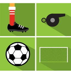 Soccer icon set ii vector