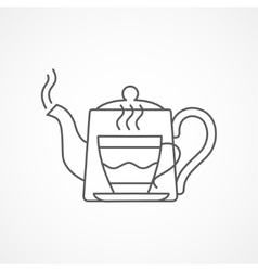 Teapot and cup Tea concept vector image