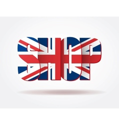 Typography internet logo british shop vector