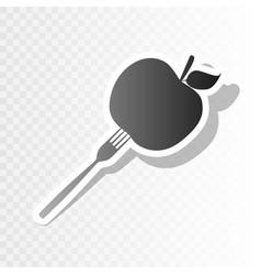Vegetarian food sign new vector