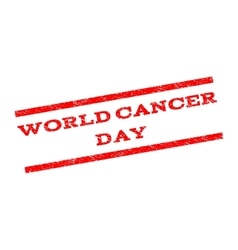 World cancer day watermark stamp vector