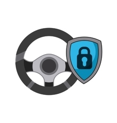 steering wheel icon vector image