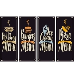 Cover menu for fast food restaurant vector