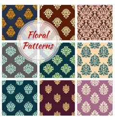 Seamless floral patterns of flower ornament vector
