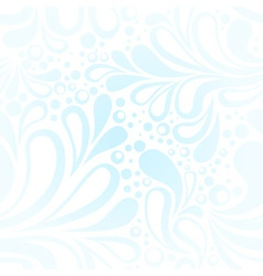 Repeating winter frost seamless pattern vector
