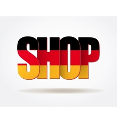Typography internet logo german shop vector