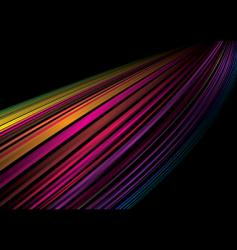 Rainbow whoosh vector