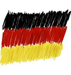 Flag of germany handmade vector