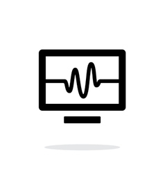 Tv signal simple icon on white background vector