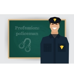 Occupation policeman profession vector