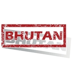 Bhutan outlined stamp vector