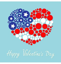 Happy Valentines Day Love card Round dot heart vector image