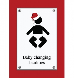 Christmas baby changing sign vector image