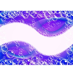Purple abstract background with bubbles vector