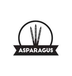 Black icon on white background asparagus vector