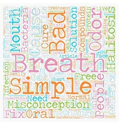 Bad breath the cure is as simple as the cause text vector