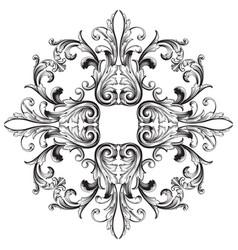 baroque ornament decoration element vector image