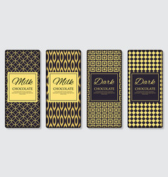 dark and milk chocolate bar design template 3d vector image