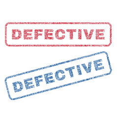 defective textile stamps vector image vector image