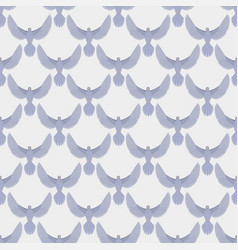 Dove flying bird seamless pattern vector