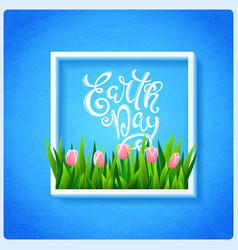 earth day poster vector image vector image