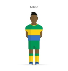 Gabon football player Soccer uniform vector image vector image