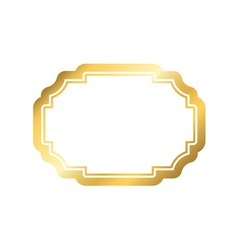 Gold frame simple golden white design vector image vector image