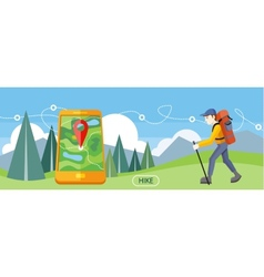 Hike concept vector