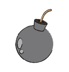 Isolated bomb design vector image