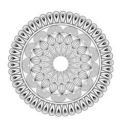 Mandala oriental decorative element ethnic design vector