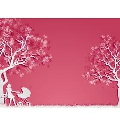 Motherhood and childhood vector image vector image