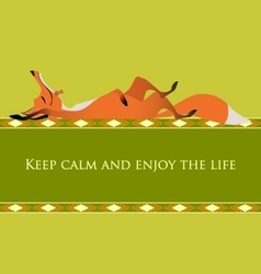 Motivational card Keep calm and enjoy the life vector image