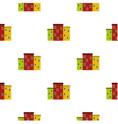 Multicolored argentine houses pattern seamless vector